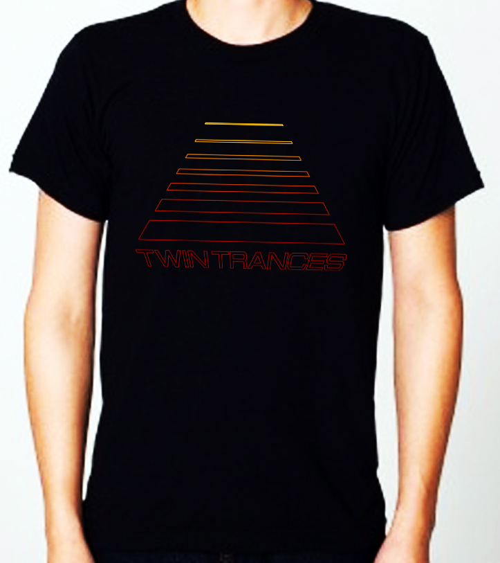 twin trances black shirt